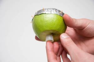 Чаша для кальяна из яблока