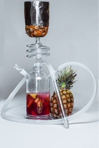 Стеклянный кальян Фигаро с чашей на ананасе