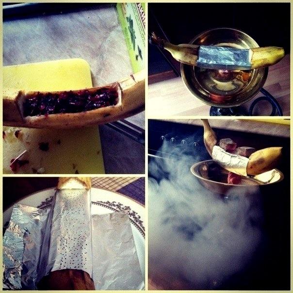 Как сделать кальян из банана и